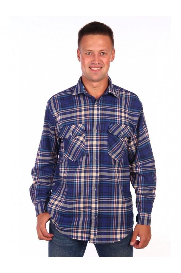 Мужская рубашка шотландка (4514-rubashka)