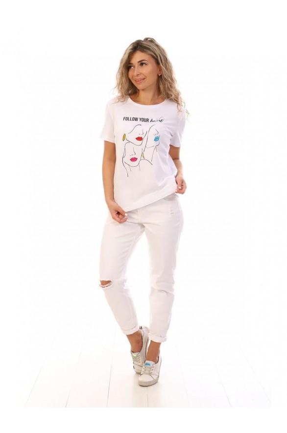 Женская футболка Губки (Модель - gubki)